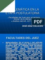 Tema 1 Facultades Del Juez en Para El Rechazo Liminar -01!08!12