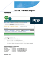 H-Index and Impact Factors