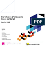 Baromètre d'image 2013 du Front national