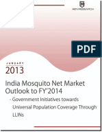 India Mosquito Nets Market Outlook to FY'2014 - Government Initiatives towards Universal Population Coverage through LLINs