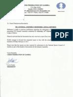2013 cfz ga zonal reports reminder