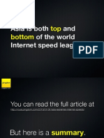 Asia is both top and bottom of the world Internet speed league