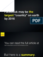 "Facebook may be the largest ""country"" on earth by 2016"
