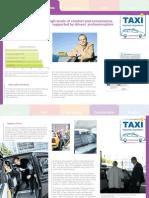 Taxi factsheet – Comfortable