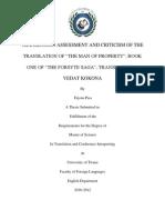 Translation assessment of the Forsyte Saga