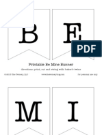 Printable Be Mine Banner (Black) - by The Twinery