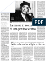 Un Ritratto Di Hannah Arendt a Partire Dall'Analisi Di Una Sua Intervista Televisiva - Il Manifesto 06.02.2013