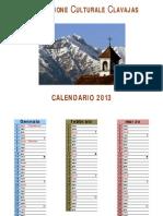 Calendario di Clavais 2013