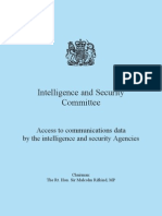 UK ISC Report - Access to Communications Data By the Intelligence and Security Agencies