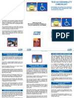 Taxi Accessibility Checklist