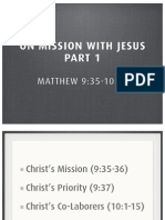 On Mission With Jesus, Part 1