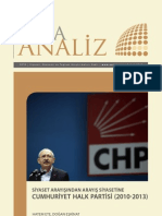 Siyaset Arayışından Arayış Siyasetine CHP