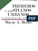 Meeks, Wayne - Los Primeros Cristianos Urbanos