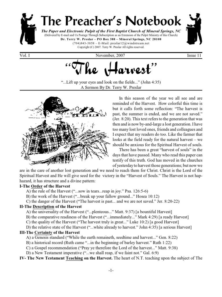 11 07 the Harvest TWP