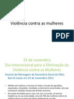Trabalho - Violência contra as mulheres