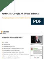 Google Analytics Seminar 121watt Auszug