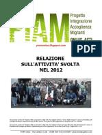 PIAM onlus - Relazione attività 2012