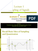 lecture on sampling of signals