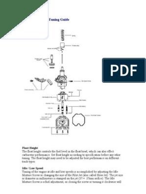 Carburetor tuning guide PZ26 | Carburetor | Jet Engine