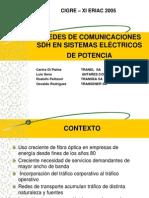 REDES DE COMUNICACION SDH EN SISTEMAS ELÉCTRICOS de POTENCIA