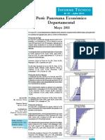 Panorama Económico Departamental - Mayo 2011
