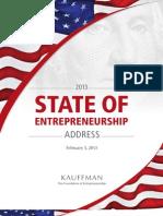 2013 State of Entrepreneurship Address