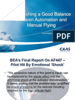 Establishing a Good Balance Between Automation and Manual Flying (CAA Singapore, WATS 2012)