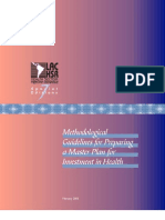 Methodological Guidelines Preparing Master Plan Investment Health
