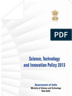 Science Technology & Innovation Policy 2013