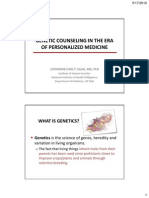 Counseling in the Era of Personalized Medicine
