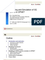 Modeling and Simulation of 3G UMTS in OPNET