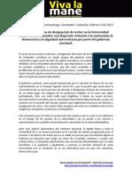 Designación de rector en la UIS