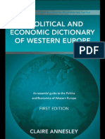 Annesley - A Political and Economic Dictionary of Western Europe
