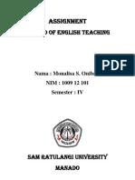 Mona Assignment Teaching
