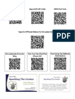 QR Codes to QR App Sheets and Sparking The Genius Info