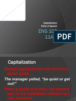 Caps & Parts of Speech