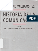 Raymond Williams Historia de La Comunicacion II de La Imprenta Hasta Nuestros Dias