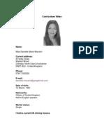 Danielle Marie Manarin Curriculum Vitae Sept 07