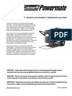 Coleman Powermate Generator Manual PM0435001