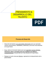 Entrenamiento y Desarrollo Del Talento