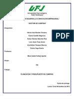 Planeacion y Presupuestos Gestion de Compras..