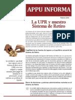 La UPR y nuestro Sistema de Retiro.