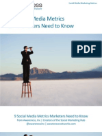 9 Social Marketing Metrics You Need to Know