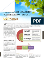 Kenya Psychosocial Disability Watch January 2013 Edition
