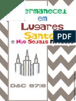 Esboço para Novos Inícios - Permanecei em Lugares Santos 2013