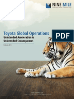Toyota Global Operations -  Unintended Acceleration and Unintended Consequences