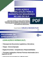 Legislação e segurança para o uso de GLP
