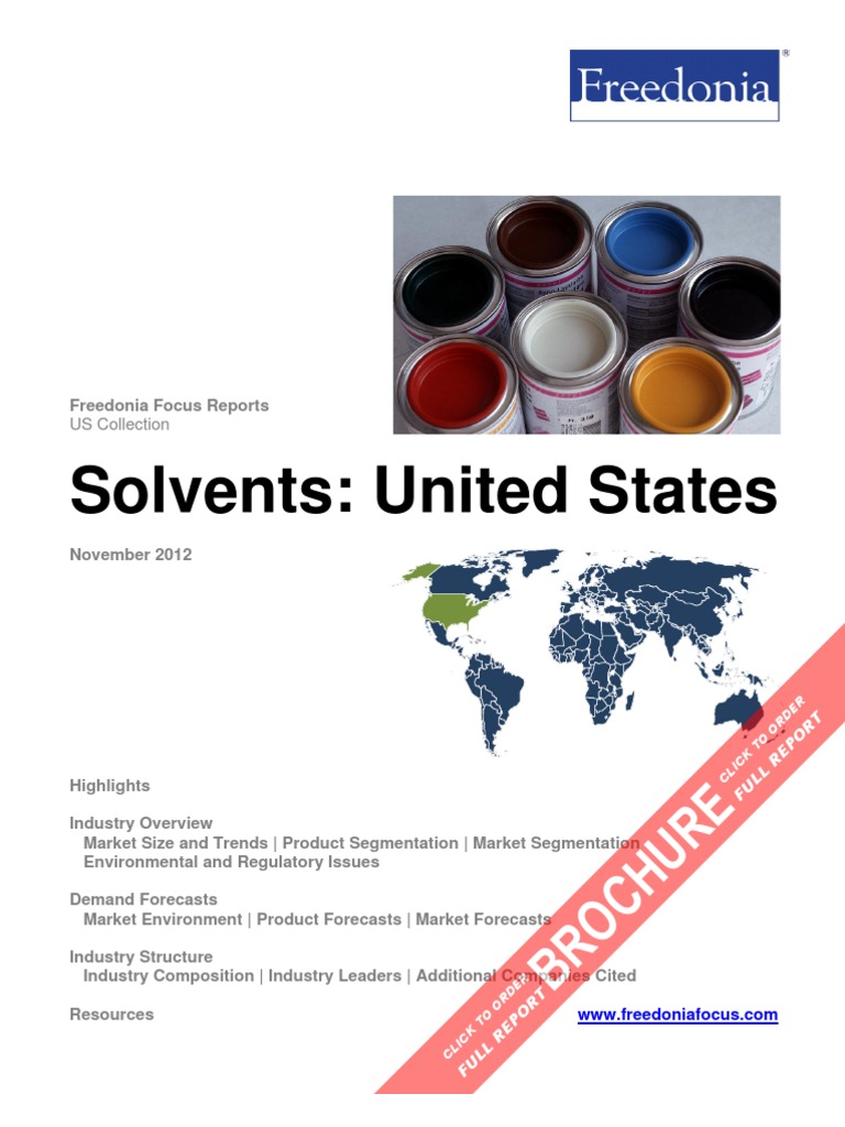 Solvents: United States | Paint | Alcohol