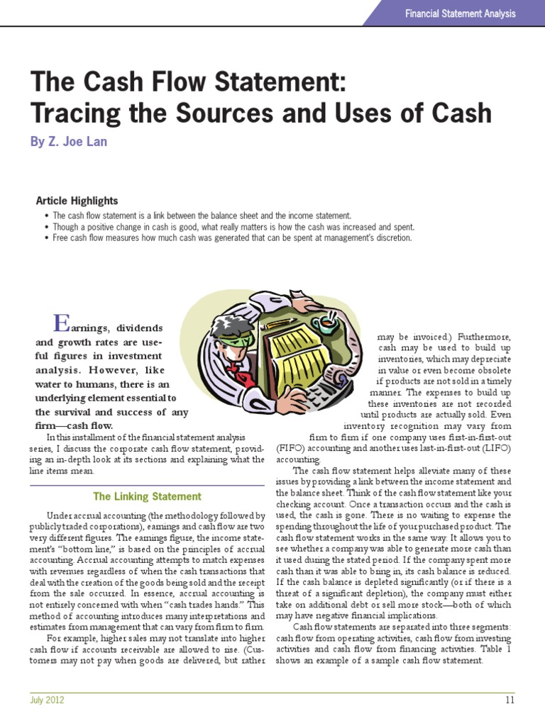 transaction analysis and statement of cash Learn how to do a cash flow analysis so you can make more informed decisions  on the operating, investing, and financing activities of your small business.