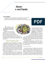 Balance Sheet Financial Statement Analysis